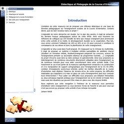 Didactique et Pédagogie de la Course d'Orientation - Introduction