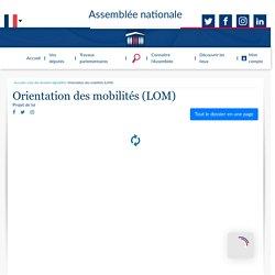 Orientation des mobilités (LOM) (Dossier législatif en version repliée) - Assemblée nationale