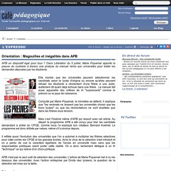 Orientation : Magouilles et inégalités dans APB