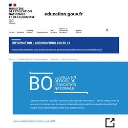 Calendrier exams BO n° 2019-166 du 20-11-2019