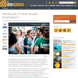 Pansexual: A 'New' Sexual Orientation?