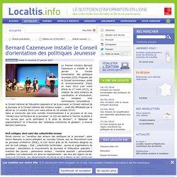 Bernard Cazeneuve installe le Conseil d'orientation des politiques Jeunesse