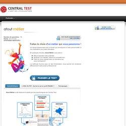 Test d'orientation professionnelle