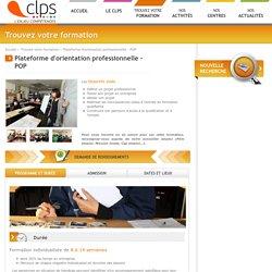 Formation Plateforme d'orientation professionnelle - POP en Bretagne avec CLPS