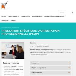 Prestation Spécifique d'Orientation Professionnelle (PSOP) – C.F.P Presqu'île