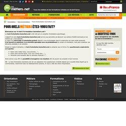 Test d'orientation gratuit - Orientation professionnelle