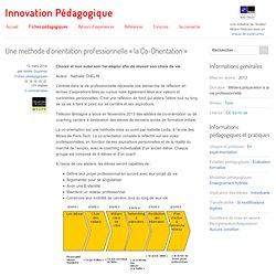 Une méthode d'orientation professionnelle « la Co-Orientation » - Innovation Pédagogique