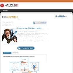 Bilan Orientation - Test d'intérêts professionnels - Central Test