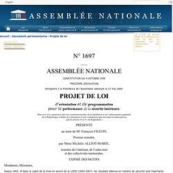 N°1697 - Projet de loi d'orientation et de programmation pour l