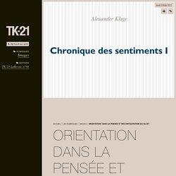 Orientation dans la pensée et reconfiguration du sujet - TK-21