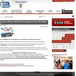 World Café de l'orientation : sans solution en septembre ?