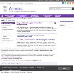 Orientation - Stages et tutorat