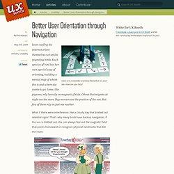 Better User Orientation through Navigation
