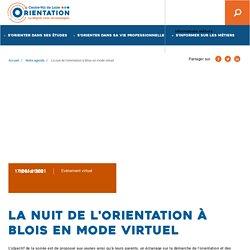 La nuit de l'orientation à Blois en mode virtuel