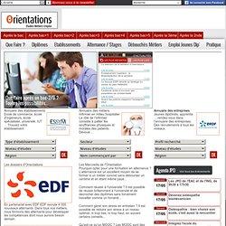 Orientations : le site des études, des métiers, de l'emploi et de l'alternance