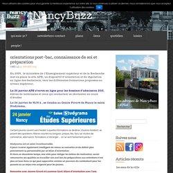 orientations post-bac, connaissance de soi et préparation « NancyBuzz
