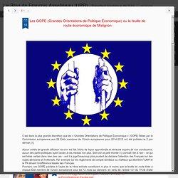 Les GOPE (Grandes Orientations de Politique Économique) ou la feuille de route économique de Matignon