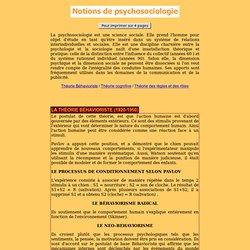 Les orientations psychosociales