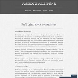 FAQ orientations romantiques