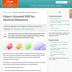 Object-Oriented PHP for Absolute Beginners