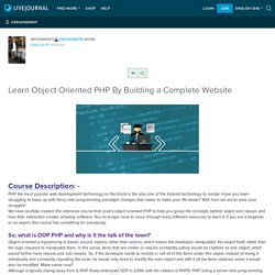 Learn Object Oriented PHP By Building a Complete Website: vernonemrit