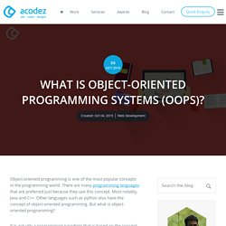 What is Object-Oriented Programming in Java? OOP Concepts