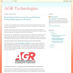 Result-Oriented Services from the Award-Winning Website Design Agency in Worcester