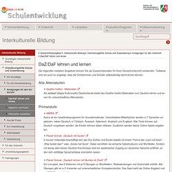 Schulentwicklung NRW - Interkulturelle Bildung - Orientierungshilfe Schule und Zuwanderung - Anregungen für den Unterricht - DaZ/DaF lehren und lernen