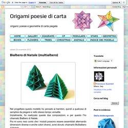 Origami poesie di carta: Bialbero di Natale (multialbero)