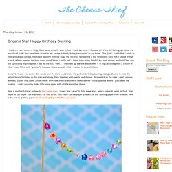 Origami Star Happy Birthday Bunting