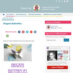 Origami Butterflies - Emma Owl