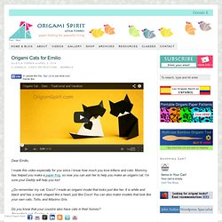 Origami Cat -How to Make Two Easy Origami Cats