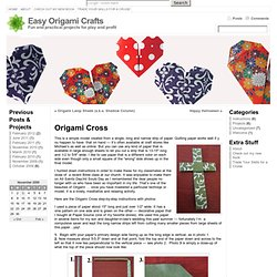 Origami Cross « Easy Origami Crafts