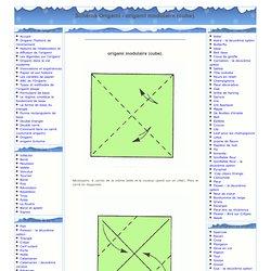 Origami - Origami Diagrammes - origami modulaire (cube)