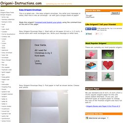 Easy Origami Envelope Folding Instructions - How to make an Easy Origami Envelope