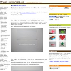Easy Origami Star of David Folding Instructions