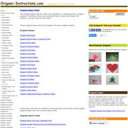 Origami Folding Instructions - How to make Origami Base Folds
