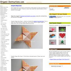 Origami Magic Box Folding Instructions