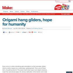 Origami hang gliders, hope for humanity