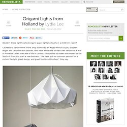 Origami Lights from Holland