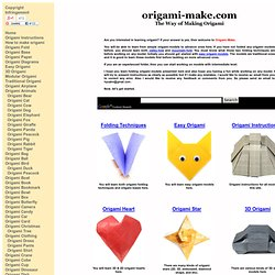Instructions to learn how to make origami models