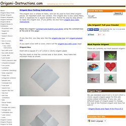 Easy Origami Box Instructions - How to make a Simple Origami Box