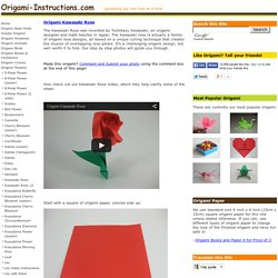 Origami Kawasaki Rose - Origami Flowers Folding Instructions