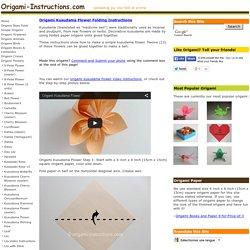 Origami Kusudama Flower Folding Instructions - How to make an Origami Kusudama Flower