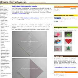 Easy Origami Kusudama Cherry Blossom Flower Folding Instructions