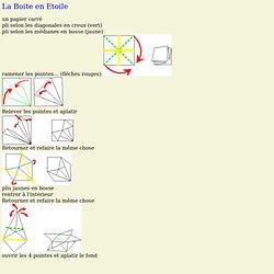 Origami - La Boite en Etoile