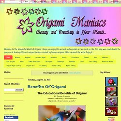 Origami Maniacs: Home