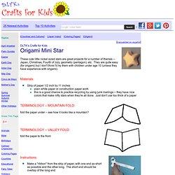 Origami Mini Star
