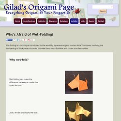 Gilad's Origami Page - Wetfolding How-to guide - Minefield
