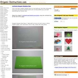 16 Point Origami Modular Star Folding Instructions - How to Make a 16 Point Origami Modular Star
